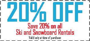 20% Ski and Board Rentals
